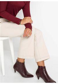 Beżowe spodnie bonprix