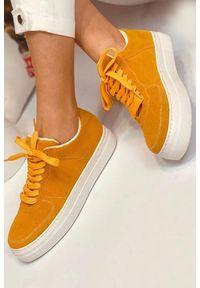 Żółte buty sportowe IVET na co dzień