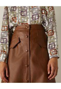 Marella - MARELLA - Brązowa spódnica midi Acqua. Kolor: brązowy. Materiał: wiskoza. Styl: wizytowy, elegancki
