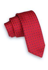 Niebieski krawat Alties klasyczny, w kropki