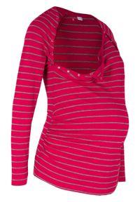 Czerwona bluzka bonprix w paski, długa