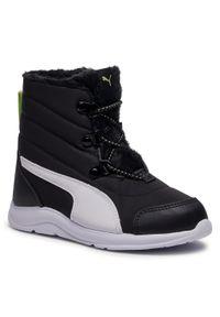 Czarne buty zimowe Puma z cholewką