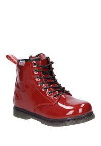 Czerwone buty zimowe American Club