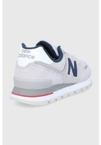 New Balance - Buty ML574DTC. Nosek buta: okrągły. Zapięcie: sznurówki. Kolor: szary. Materiał: guma. Model: New Balance 574
