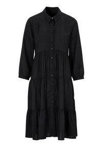 Czarna sukienka Happy Holly z aplikacjami, szmizjerki #1