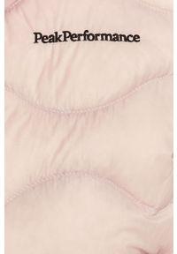 Różowa kurtka Peak Performance casualowa, na co dzień