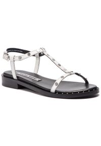Białe sandały Bronx z aplikacjami