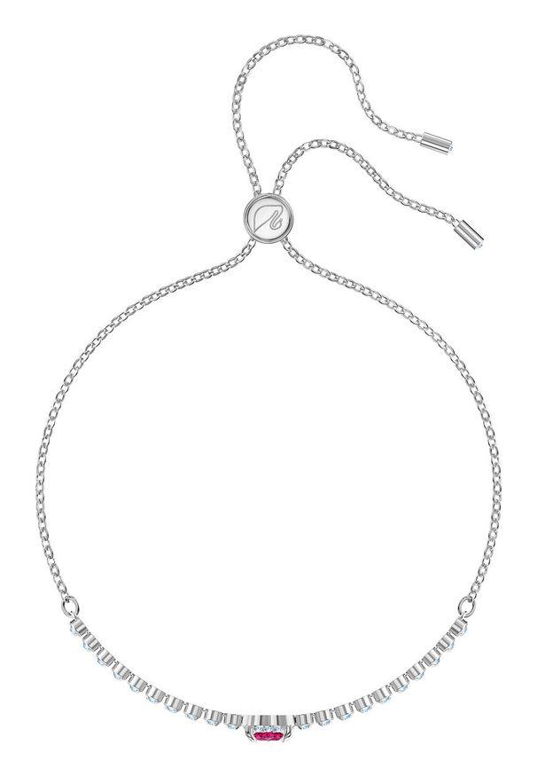 Srebrna bransoletka Swarovski metalowa, z aplikacjami, z kryształem