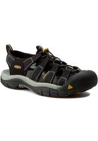 Czarne sandały keen wakacyjne, na spacer