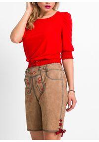 Beżowe spodnie bonprix krótkie