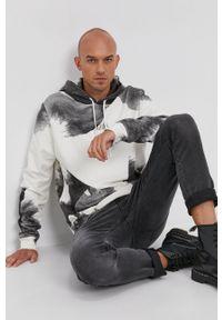 AllSaints - Bluza bawełniana. Kolor: szary. Materiał: bawełna. Wzór: nadruk