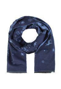 Niebieski szalik Giacomo Conti elegancki, na zimę