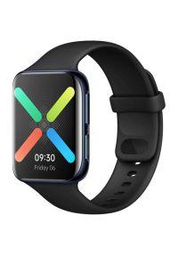 Czarny zegarek OPPO elegancki, smartwatch