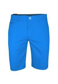 Turkusowe spodnie Rigon na lato, krótkie