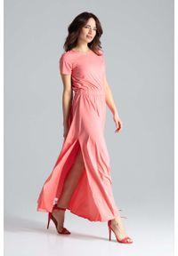 Pomarańczowa sukienka Katrus maxi