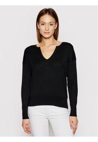 Calvin Klein Sweter Logo Open Neck K20K202907 Czarny Regular Fit. Kolor: czarny