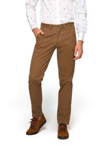 Beżowe spodnie Lancerto na co dzień, moro, eleganckie