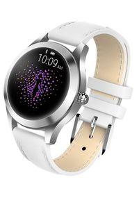 Biały zegarek GARETT smartwatch, biznesowy