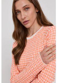 Victoria Victoria Beckham - Sweter. Okazja: na co dzień. Kolor: pomarańczowy. Materiał: dzianina. Długość rękawa: długi rękaw. Długość: długie. Styl: casual