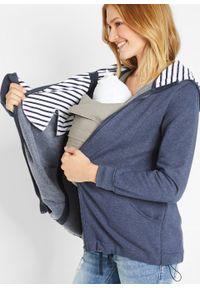 Niebieska bluza bonprix moda ciążowa, melanż