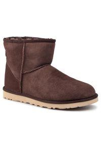 Brązowe buty zimowe Ugg z cholewką, casualowe, na co dzień