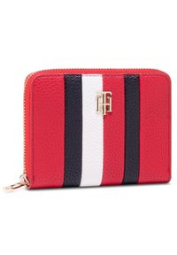 Czerwony portfel TOMMY HILFIGER