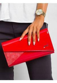 Czerwona kopertówka ROVICKY wizytowa, lakierowana