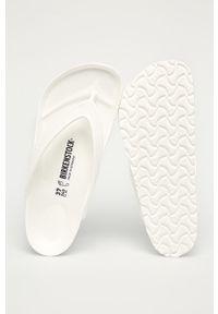 Białe japonki Birkenstock gładkie, bez obcasa