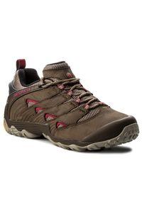 Brązowe buty trekkingowe Merrell
