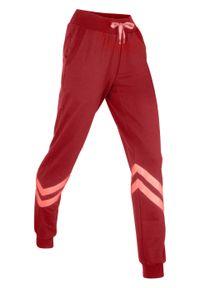 Fioletowe spodnie bonprix sportowe, długie