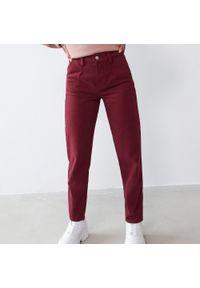 Brązowe jeansy Sinsay z podwyższonym stanem