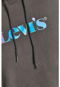 Levi's® - Levi's - Bluza bawełniana. Okazja: na spotkanie biznesowe, na co dzień. Kolor: szary. Materiał: bawełna. Wzór: nadruk. Styl: casual, biznesowy
