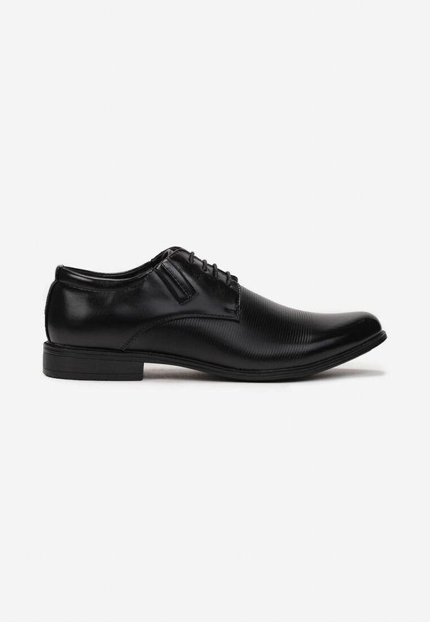 Born2be - Czarne Półbuty Zoma. Wysokość cholewki: przed kostkę. Nosek buta: okrągły. Zapięcie: sznurówki. Kolor: czarny. Materiał: skóra. Szerokość cholewki: normalna. Obcas: na obcasie. Styl: klasyczny, elegancki