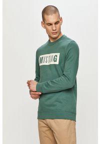 Zielona bluza nierozpinana Mustang na co dzień, casualowa