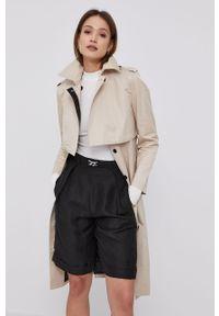Płaszcz Karl Lagerfeld na co dzień, gładki, klasyczny, bez kaptura