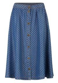 Spódnica dżinsowa TENCEL™ Lyocell bonprix niebieski. Kolor: niebieski. Materiał: lyocell