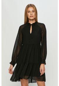 Czarna sukienka Haily's na co dzień, prosta