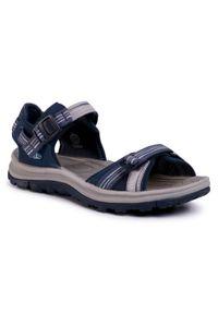 Niebieskie sandały keen na co dzień, z otwartym noskiem, casualowe