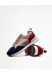 HOFF - Sneakersy z nubuku Oporto. Okazja: na co dzień. Kolor: szary. Materiał: nubuk. Wzór: nadruk