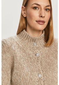 Beżowy sweter rozpinany Liu Jo na co dzień, casualowy