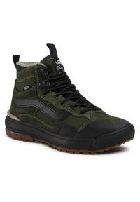 Vans - Sneakersy VANS - Ultrarange Exo Hi VN0A4UWJ26W1 (Mte)66 Supply/Grape Leaf. Okazja: na co dzień. Kolor: zielony. Materiał: zamsz, skóra, materiał. Szerokość cholewki: normalna. Styl: casual