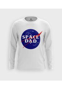 MegaKoszulki - Koszulka męska z dł. rękawem Space dad. Materiał: bawełna