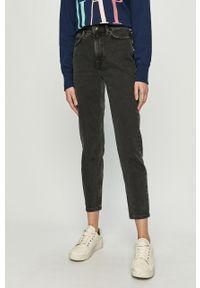 Szare jeansy Jacqueline de Yong na co dzień, z podwyższonym stanem, casualowe
