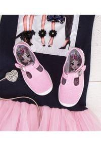 Tenisówki dziecięce Befado 115X002 Różowe. Zapięcie: klamry. Kolor: różowy. Materiał: tworzywo sztuczne, tkanina, materiał