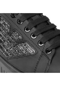 Czarne buty sportowe Emporio Armani z cholewką