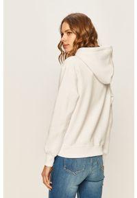 Biała bluza Calvin Klein Jeans z kapturem