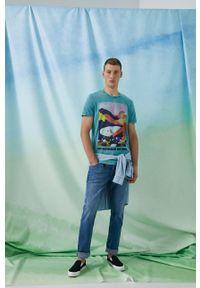 medicine - Medicine - T-shirt bawełniany by Ewelina Gąska, Grafika Polska. Kolor: turkusowy. Materiał: bawełna. Wzór: nadruk