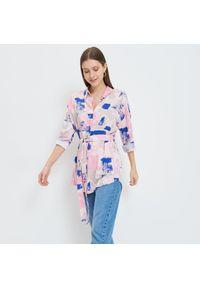 Mohito - Wiskozowa koszula Eco Aware - Beżowy. Kolor: beżowy. Materiał: wiskoza