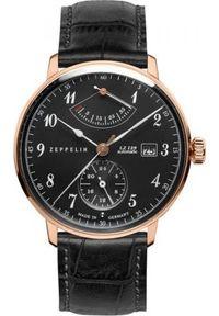 Czarny zegarek Zeppelin