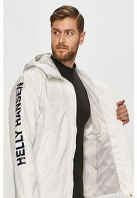 Biała kurtka Helly Hansen z kapturem, casualowa